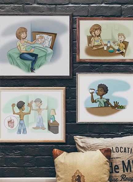 Pediasure Illustrations